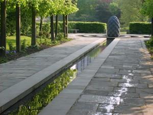 Castle Park's water feature.